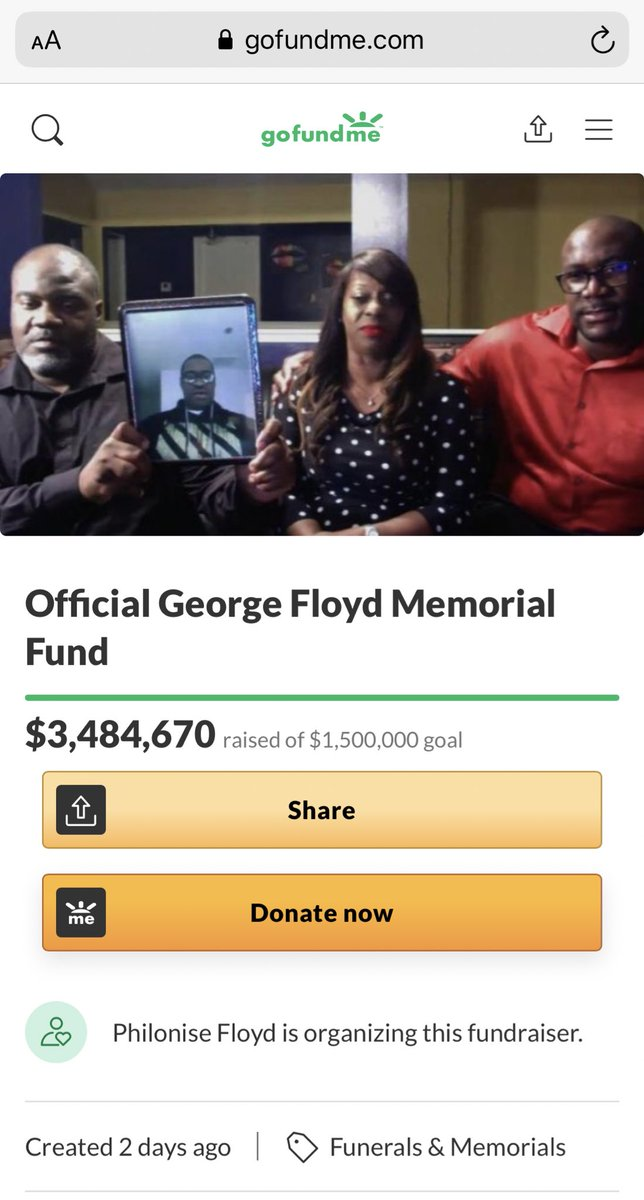 https://t.co/TpWsggalyB  Just donated.  Imagine doing everything you can to distance yourself in this pandemic and then all of a sudden planning a funeral for your son. https://t.co/RfOJJf2bbS