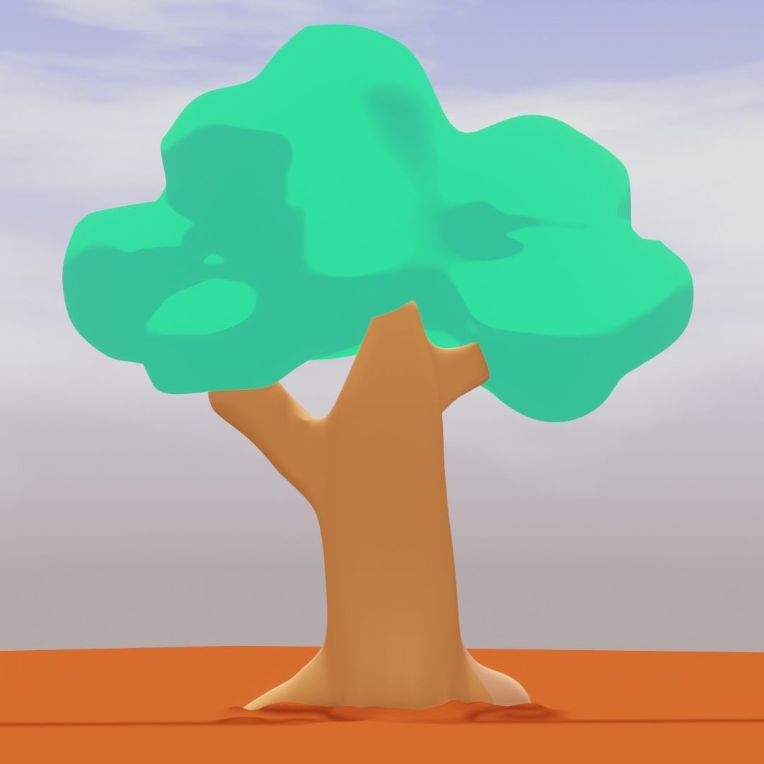 cartoon tree in 3d its not a 2d drawing ,, 3d tree but toon shading ##dcn #blender3d #blender #trees #palmdates #3d #eevee #deenycartoonnetwork #islamic #natural #nature #2dshading #try #design #dates #2dstyle #drawing #drawingstyle #look #concept #treecolor #forest #animatrion