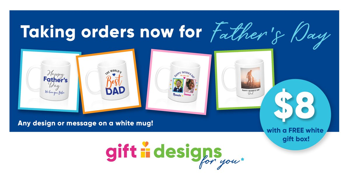 Father's Day is approaching, let us help you get the perfect gift. #GiftDesigns #custommugs #customdesigns #mugprinting #madeinzim #giftdesignsforyou #FathersDay #fathersdaygifts #fathersdaygiftideas #fathers #dadgifts pic.twitter.com/RiasJ7RKZW