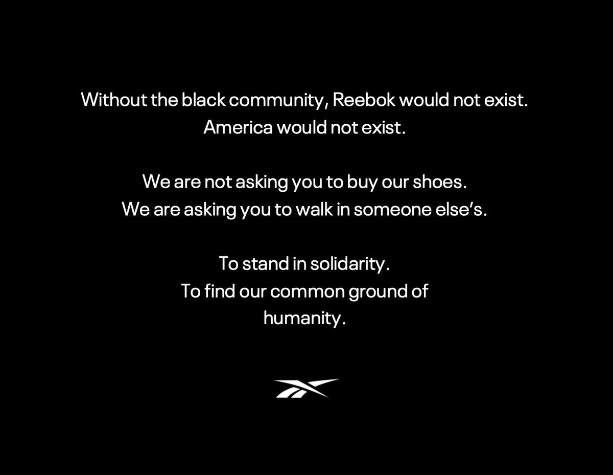 To the black community: We see you. We stand in solidarity with you. This can no longer be the status quo.