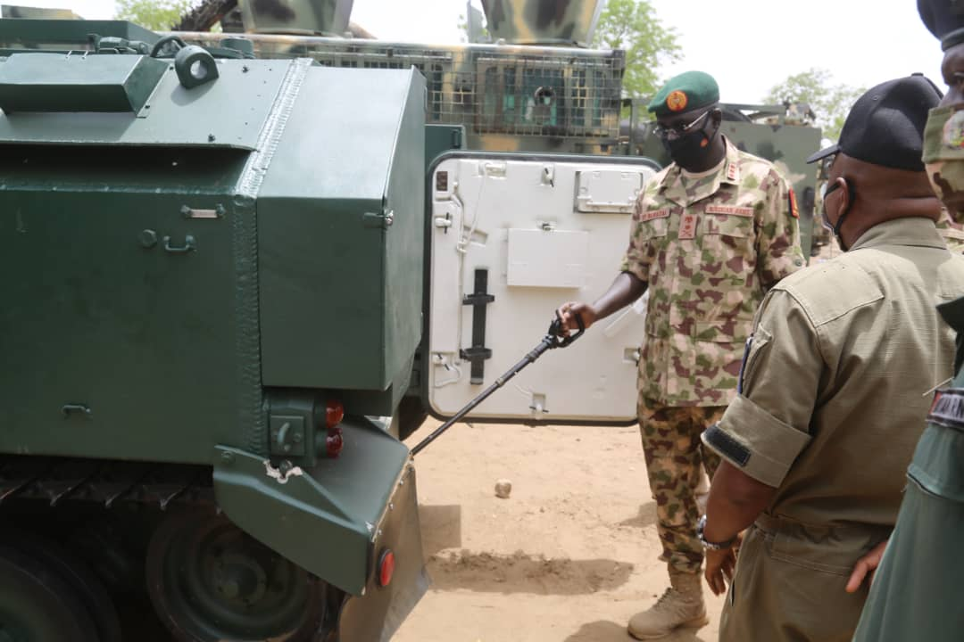 Gen Buratai was accompanied by the Chief of Training and Operations (Army), Theatre Commander Operation LAFIYA DOLE, Chief of Logistics (Army), Chief of Military Intelligence and the Acting General Officer Commanding 7 Division among others.