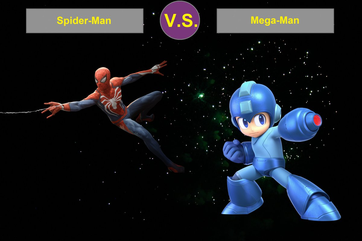 The friendly neighborhood wall crawler against the super fighting robot! Who will win?   Leave a reply with your answer or visit the arena at: https://t.co/9Q7Ar6YWzm  #spiderman #megaman #versus #arena #battle #web #videogame #robot #blue #superhero #rock #marvel #buster #capcom https://t.co/LC9ijPg6TP