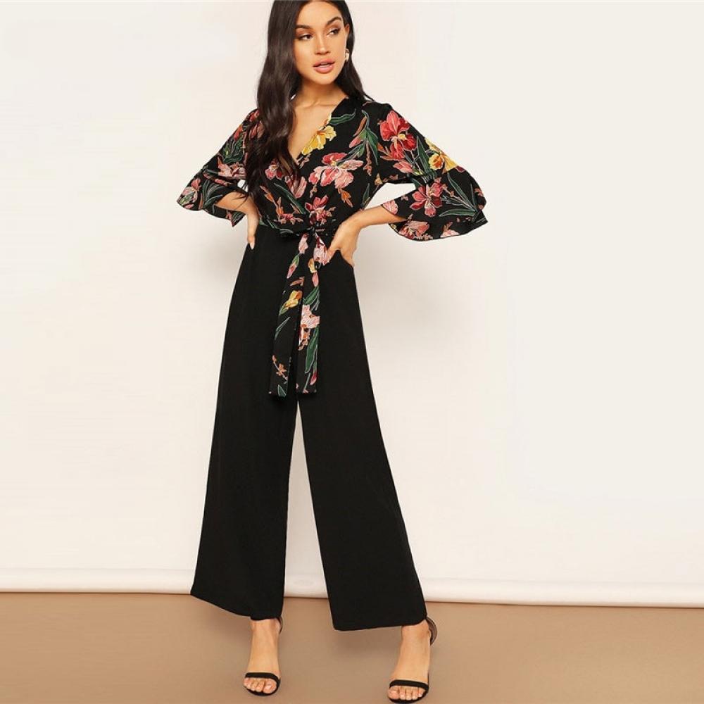 #seVen19_store #seVen19 #seVen19store #food #tflers Women's Floral Print Wrap Design Jumpsuit