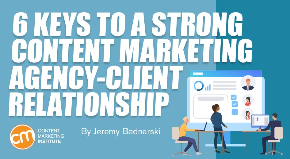6 Keys to a Strong #ContentMarketing Agency-Client Relationship!  To check 'um out, CLICK here...  https:// bit.ly/2y1VrjT     #SocialMediaManagement <br>http://pic.twitter.com/8iJu7X3Vg3