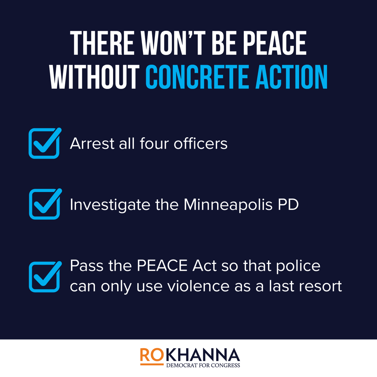 If we want peace, we need to take concrete action toward racial justice and police accountability in America.