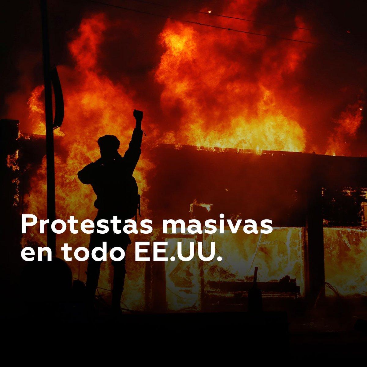 #EstadosUnidosDespertó 🆘️ después de que el abuso de la fuerza y el racismo de sus oficiales cobrara la vida de otro hermano. Estas ciudades se han unido a la causa #BlackLivesMatter #PLOMO19 @ElCuervoNica @DrSuazo915 @ChalecosAmarill