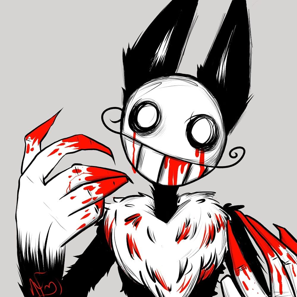 I ignored him too long. #art #artwork #artist #ArtistOnTwitter #drawing #doodle #cartoon #anime #sketch #digitalart #oc #furry #bunny #gore #cute