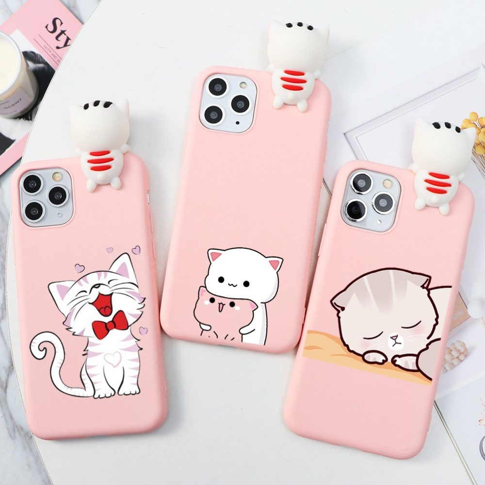 Cute Cat Dog Cartoon Animal doll Matte Case For iPhone Find at  #cute #kawaiiwow #lovely #gifts #cutegifts