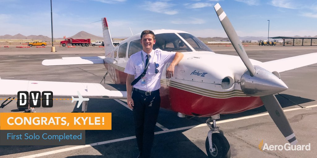Please help us celebrate Pathway Student Kyle Rusick, who completed his first solo flight! We're so excited for you, Kyle!   #Aviation #AviationLovers #AviationPhotography #Pilot #PilotTraining #Planes #Airplane #FlightSchoolpic.twitter.com/PoEhIAIbwF