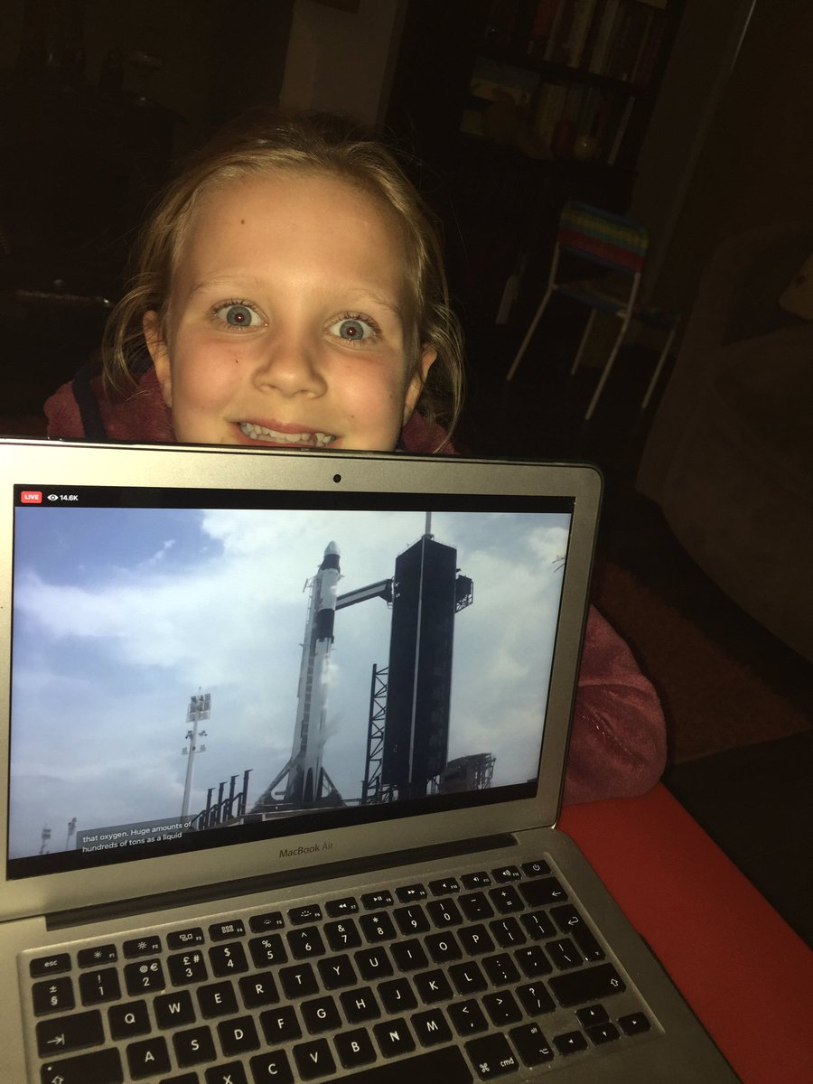 She's so excited!! #SpaceX