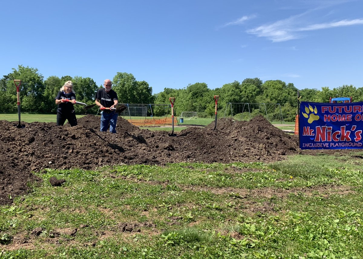 Thankful to be a part of the groundbreaking for Mr. Nick's Inclusive Playground. Looking forward to the ribbon cutting later this year. #supportSPS #BeLikeNick
