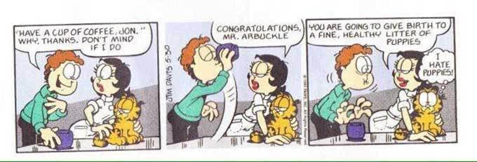 RT @KenJennings: Happy 30th anniversary of the Garfield strip where Jon drinks dog semen! https://t.co/8B2CkhRbJq
