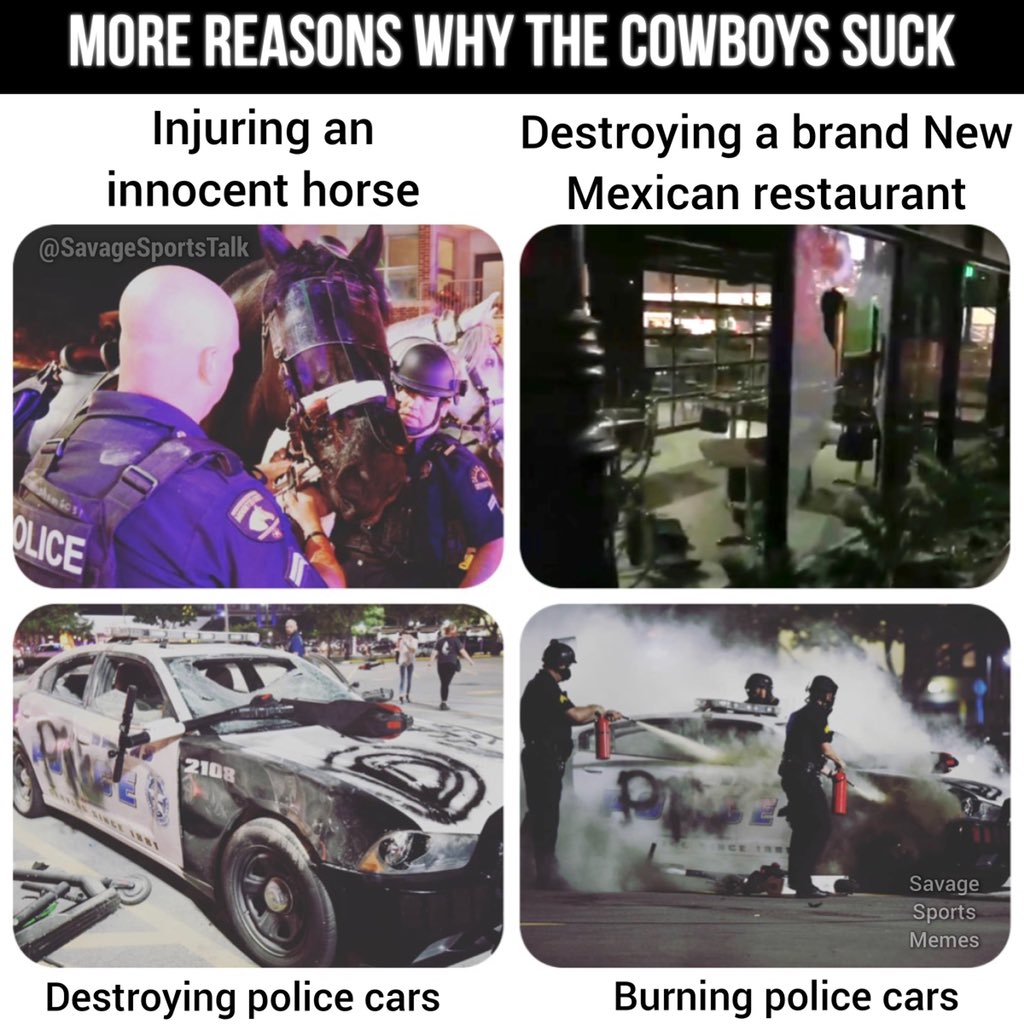As if you needed more reasons to know why the Cowboys suck. . .  #NFL #NFLmeme #NFLmemes #football #footballmeme #footballmemes #meme #memes #sports #sportsmeme #sportsmemes #cowboys #dallas #dallascowboys #dak #dakprescott #jerryjones #demboys #demboyz #zeke #riots #georgefloydpic.twitter.com/6IOg71zw1E