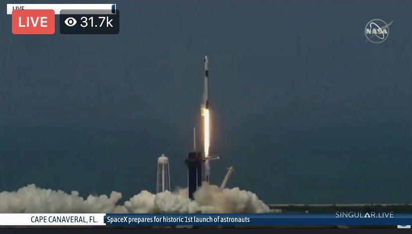 God speed to Bob and Doug ❤️ #LaunchAmerica #SpaceX #NASA