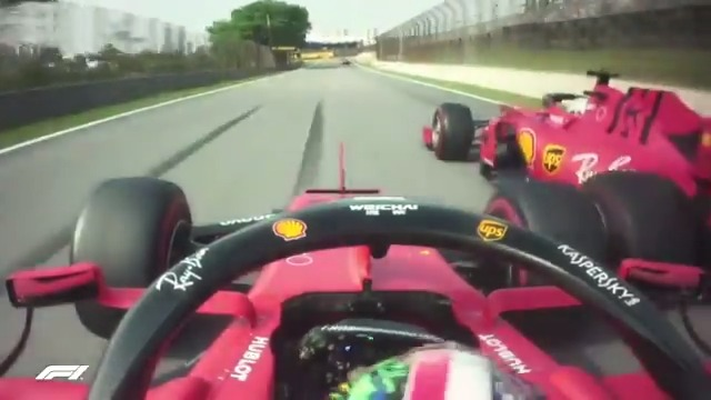 LAP 66/71   A jaw-dropping moment from Saturday's F1 Rewind as the two Ferraris collide 😮 💥 🇧🇷  #F1Rewind ⏪ #F1 https://t.co/gqDpr7iwdW