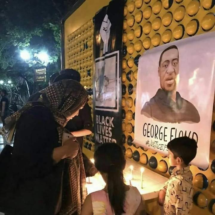 Iranians hold memorial vigil for #GeorgeFloyd, an African-American man killed by US police in Minneapolis.  #BlackLivesMatter #Iran pic.twitter.com/aJC7L7TVgF