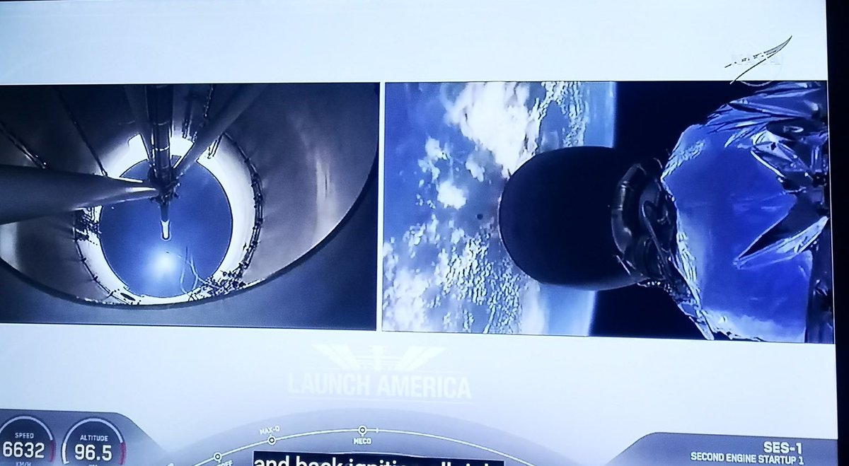 We're watching live feeds from Space on our iPhones. Think about that. #LaunchAmerica https://t.co/EfEbrQpKA1
