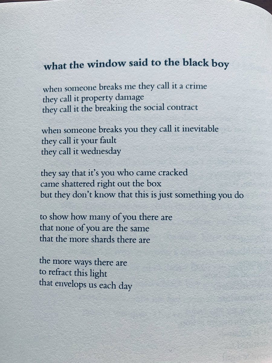 Been re-reading the homie @ClintSmithIII's work today. This poem is from his book Counting Descent. https://t.co/Fsf4p8vRWR