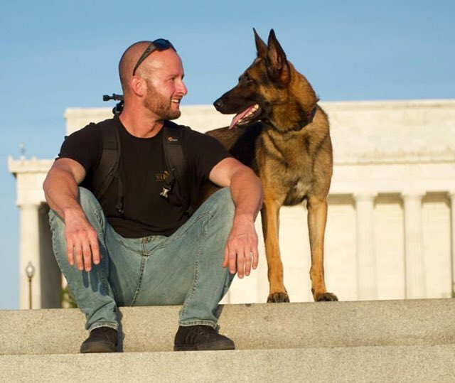 These two Marines, a handler and his bomb-sniffing dog, served together for USA in Afghanistan.   Rick has just been sent back to Colorado without Abel.  He has more than enough money, now, to buy the dog he trained. Let them be a team working for veterans. #bringabelhome