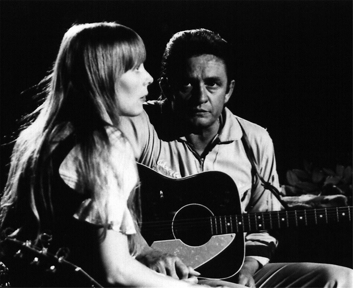 "Johnny and Joni. ""Nobody knows nobody sees / Nobody knows but me."" Being a romantic, I've always loved the song ""The Long Black Veil."" It's a bit dark, but it's full of love. And a little love is what gets us through. Photo by the great @TheGrahamNash"
