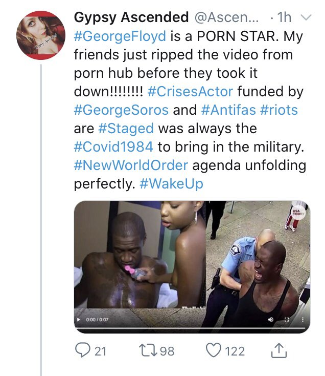 #BreakingNews   Video show that #GeorgeFloyd was a pornstar and that #Chauvin worked with George Floyd and Neighbors never saw Chauvin as a #Cop  Are the #Government, #MSM, #Governors, #Politicians, #Celebrities pushing for a #CivilWar?  #QAnon #research #resist #JusticeForGeorge pic.twitter.com/KlZCOZlIcD