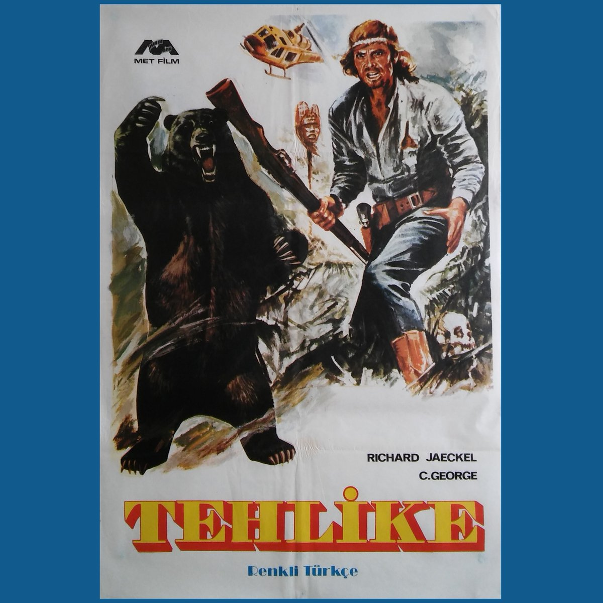 TEHLİKE 1976 Grizzly Christopher George  #animal #bear #wildanimal #creature #horror #horrormovie  Turkish edition #vintage #movie #poster #posters #movieposter #cinema #sinema #film #films #collection #photo #artpic.twitter.com/5IzuqcdIO8