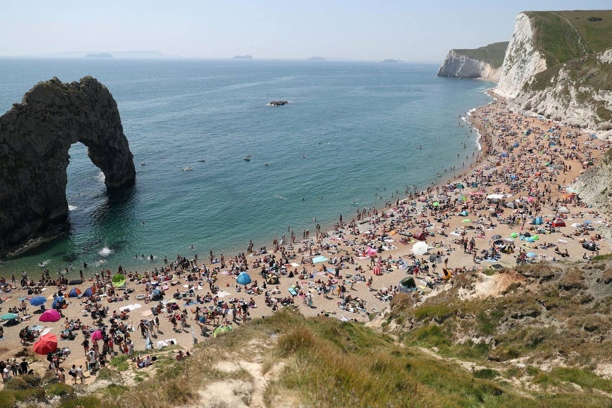 If it were only themselves affected I'd say it was a case of natural selection for those heading to Durdle Door! But it's not.Likely anyone fit & healthy enough to sit on a packed beach won't be ones dying in a few weeks of the virus.God help us.Still highest death rate in Europe