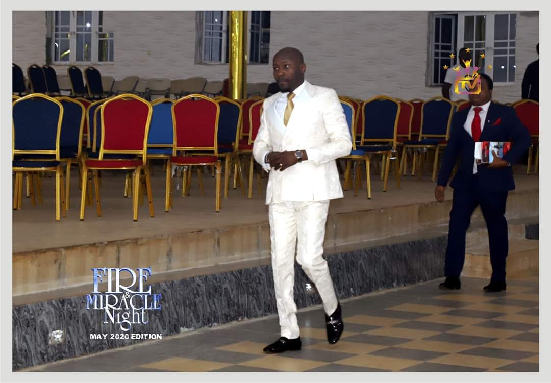 INTERCONTINENTAL FIRE  & MIRACLE NIGHT WITH APOSTLE JOHNSON & DR. LIZZY-JOHNSON SULEMAN. The Restoration Apostle & his Gracious family live for the night encounter!  #FireAndMiracleNight #MayEdition2020 #WithApostleJohnsonSuleman #CelebrationTV #OFMHQ #29thMay2020. pic.twitter.com/iA0LCrPlbc