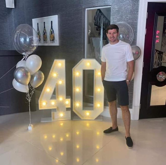 Happy 40th birthday to the Liverpool Legend  Steven Gerrard @ 40.