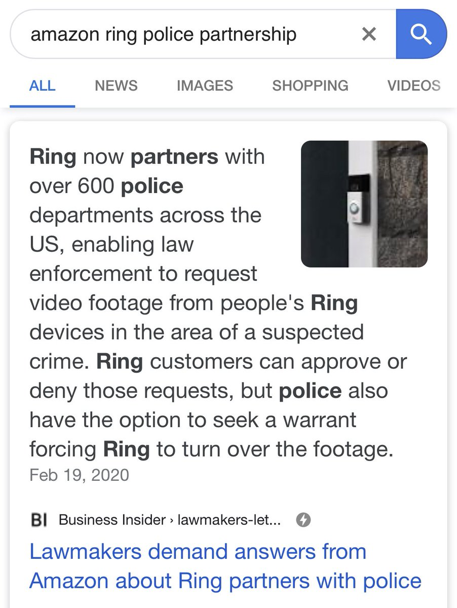 "Musicians: something you can do DIRECTLY related to music & preventing racial profiling is to NOT upload to Amazon Music. If you aren't aware, the Amazon-owned Ring collabs with police to use facial recognition to identify ""suspicious"" people (based on racially bias police data)"