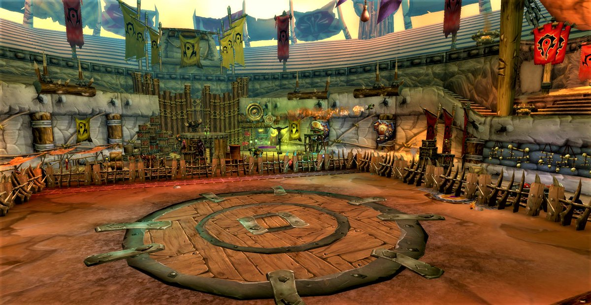 The Brawler's Guild once the scene of an epic battle between Thrall and Hellscream. Hellscream won that one. It used to be a simple coliseum. <br>http://pic.twitter.com/L9AGhahtmL