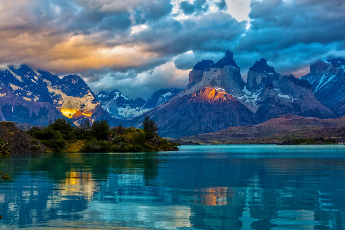 Landscape of Patagonia at Sunset. Chile  <br>http://pic.twitter.com/d5s3DSkRXA