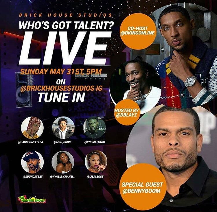 Tomorrow I'm dropping some revolutionary bars on #whosgottalent via brickhousestudios on Instagram hosted by dblayz and @dkingonline with special guest @superboom and a hot lineup of artists on the rise!! #sundays #5pm #ESTpic.twitter.com/MJKPAf0ong
