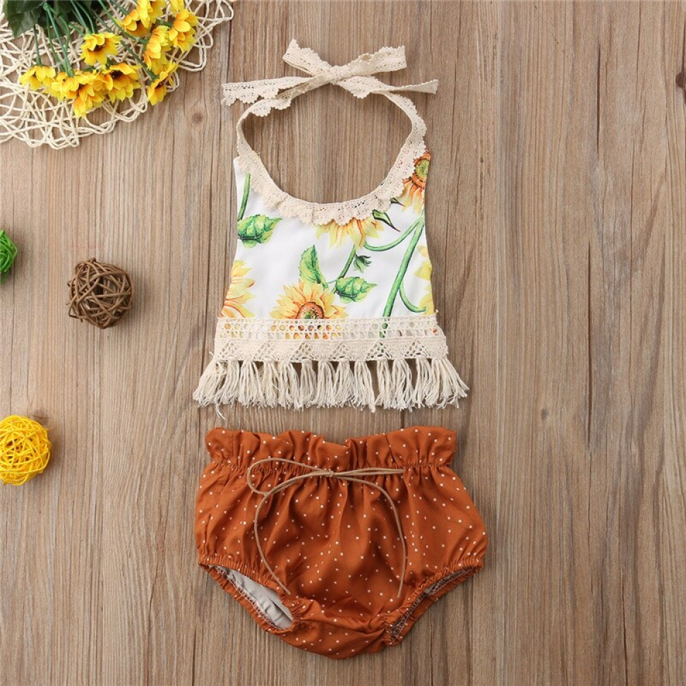 #babyclothes 2pc Sunflower Sleeveless Tassel Backless Shorts Outfit with Crochet Trims http://bohobabywear.com/product/2pc-sunflower-sleeveless-tassel-backless-shorts-outfit-with-crochet-trims/…pic.twitter.com/KSSmKWg7S5
