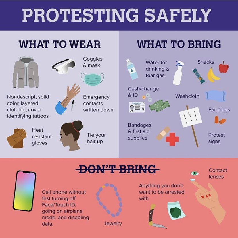 TIPS SHARED BY @AOC FOR ANYONE ATTENDING PROTESTS IN BOSTON, PROVIDENCE, & NATIONWIDE!! PLEASE BE SAFE AND RETURN HOME TO YOUR LOVED ONES! WE DO NOT WANT ANYMORE NAMES ADDED TO THE LIST OF LOVED ONES GONE! #bostonprotest #providenceprotest #BlackLivesMatter