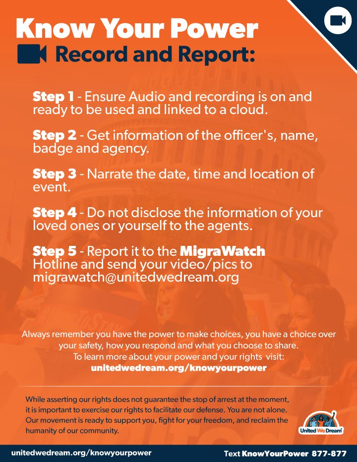 ALLIES AGAINST ICE RECORD AND REPORT