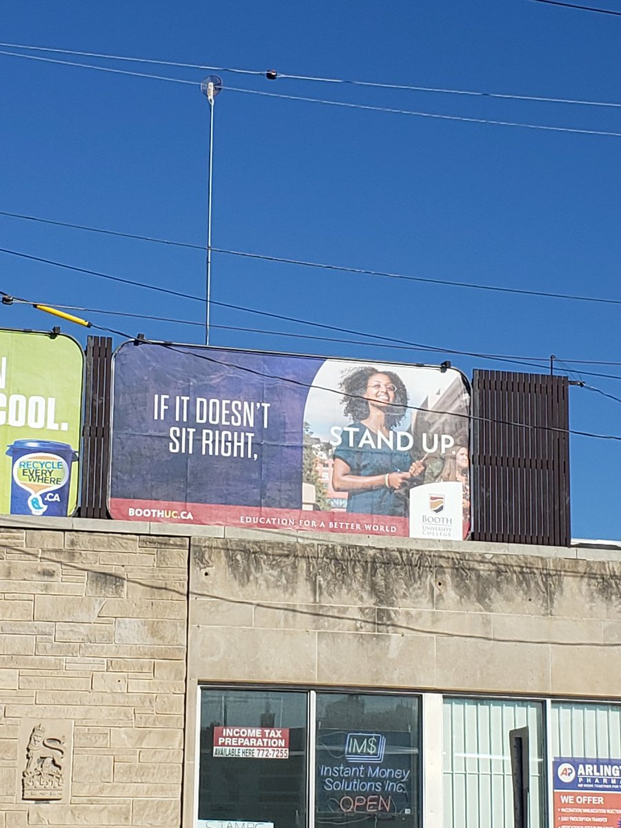 A very timely billboard from @BoothUC considering what is going on. #Winnipeg #JusticeForGeorgeFloyd #spring2020 pic.twitter.com/is2brM1GYn
