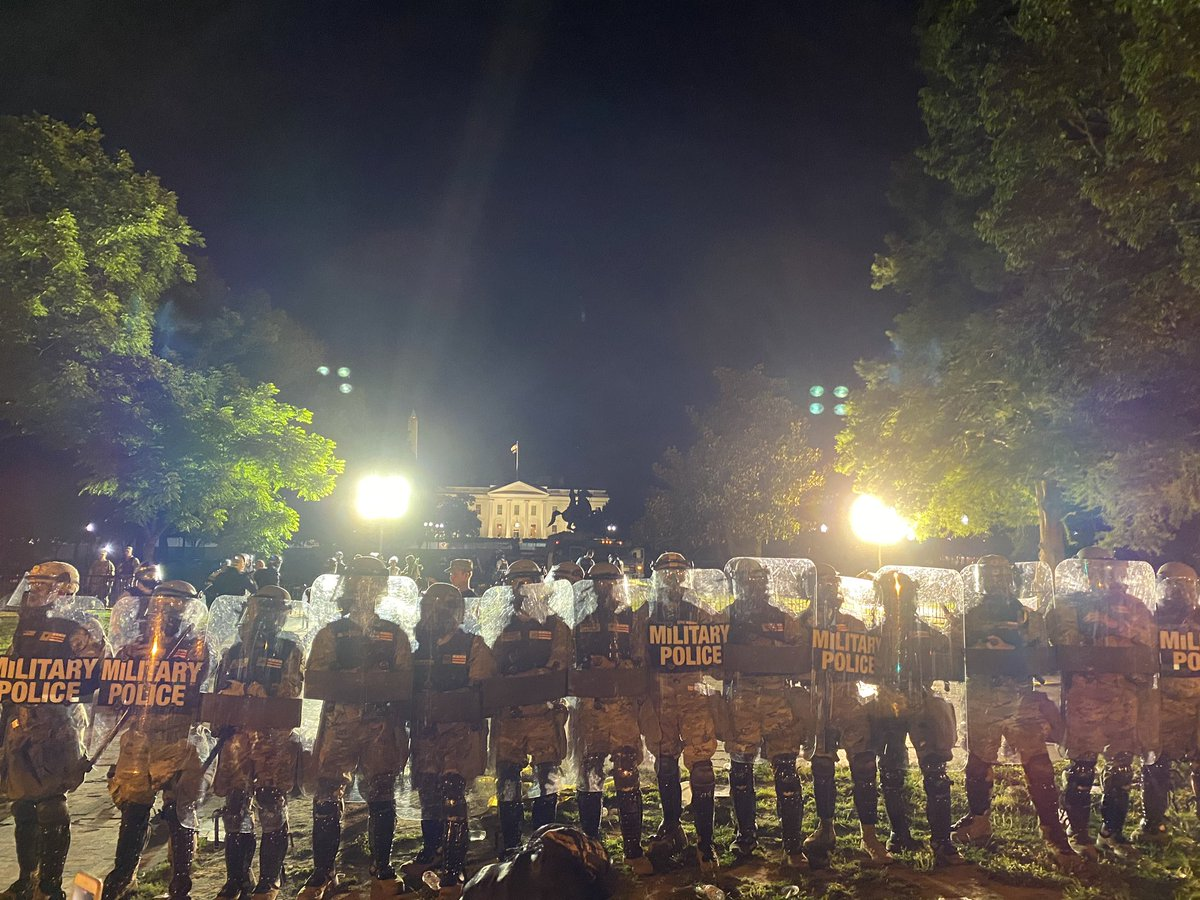 Military police now hold the front line near the White House @OANN https://t.co/xSwyJflBG9