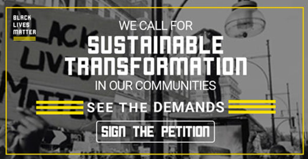 We call for an END to systemic racism that allows this culture of corruption to go unchecked and our lives to be taken. See the demands. Sign the petition. #DefundThePolice #blacklivesmatter bit.ly/3gGe3qU
