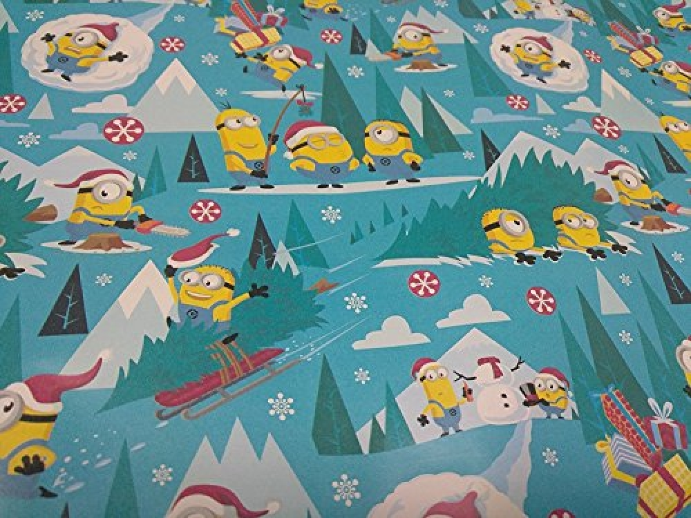 As long as you have a few seconds to spare,  check the 60% Sale on Despicable Me Minion Christmas Holiday Wrapping Paper 45 sq ft 4.5 yd 1 roll! #giftshop #giftbox #giftideas #giftstore #gadgetshow #actioncityonline #onlinestore #onlinestores pic.twitter.com/35DcXanGrT