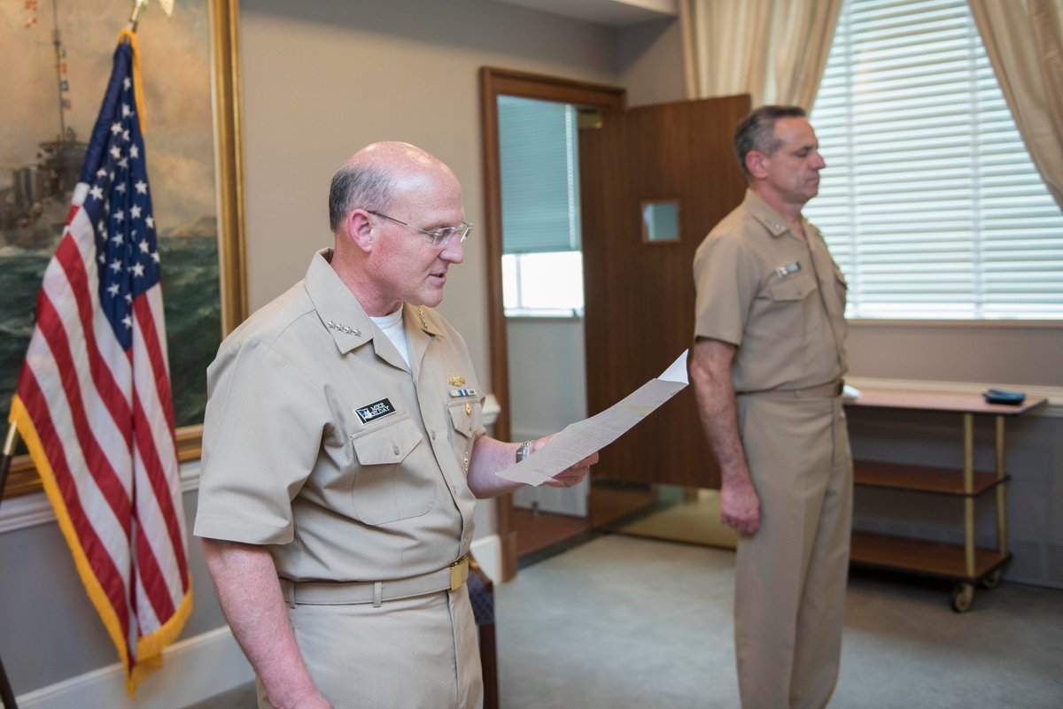 #ICYMI: Yesterday, @USNavy said farewell & following seas to ADM Bob Burke & welcomed our 41st VCNO, ADM Bill Lescher. I am grateful for all that Bob has done for us while serving as Vice Chief & I know he'll excel in his next assignment as a fleet commander in Europe.
