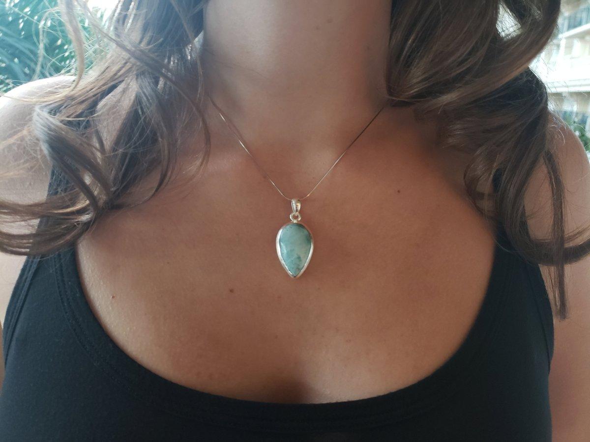 Beautiful Larimar: #Larimar #Pendant #Necklace #925 #SterlingSilver #ItalianChain #LargePendant #Blue #LarimarPendant #BluePectolite https://etsy.me/3ewLz12 #gift #birthday #teardrop #lovefriendship #dominicanlarimar #bohostyle #beachjewelry #etsy #jewelry #hawaiipic.twitter.com/Lsxz8Cgnha