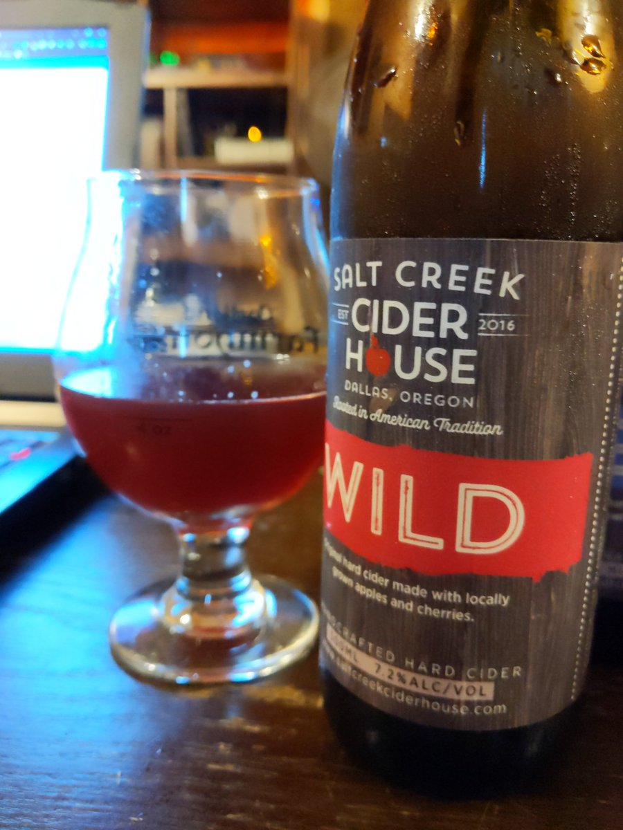 #WVCiderFest oooh the color on this one is BEAUTIFUL (Salt Creek Cider Houses WILD, which is an unfiltered cider with apples and cherries)