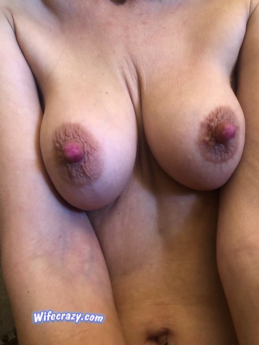 1 pic. WC  My nipples are so hard today. Thought I would share them 👀  Turning 47 in a few days 😉  #Stacie #nipples #47
