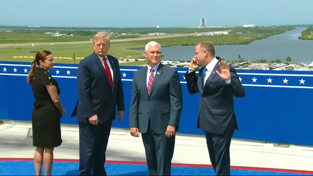 The only thing that I can come up with to explain Trumps posture here is that hes riding a hoverboard