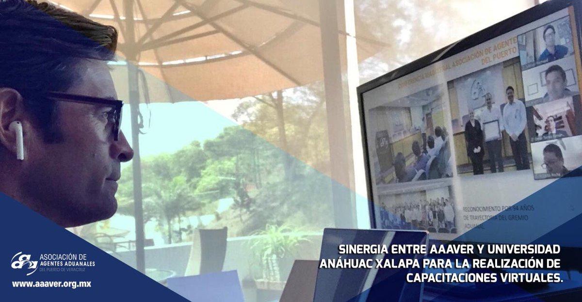 En Reunión de la @AnahuacXalapa, la #AAAVER, representada por nuestro Presidente, el A.A. Manuel H. Reynaud Agiss @Man_rey, invitó a la institución educativa a participar en el ciclo de capacitaciones virtuales en comercio exterior y aduanas que coordina nuestra asociación. https://t.co/ZXzmW8Uqy8