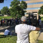 Image for the Tweet beginning: George Floyd rally outside the
