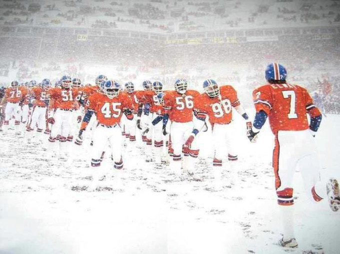 When it comes to football, I have always subscribed to the philosophy 'The more snow, the better.'
