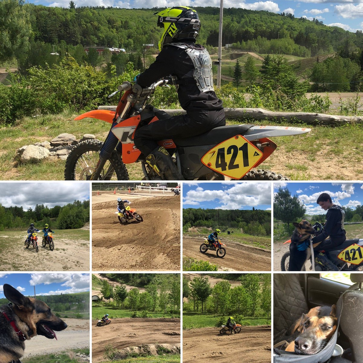 Today was a much needed day at the track. Rosie came along as our moto dog and did a great job #familytime #motofamily #Lifeisgoodpic.twitter.com/qS6405REXF