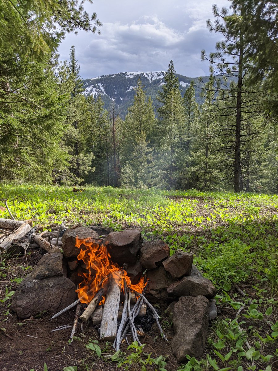 A new campsite with a better view. Im going to try Dutch oven pizza tonight 🌲🔥🍕🏕️😁